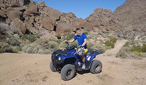 Driving ATV to North Grand Canyon