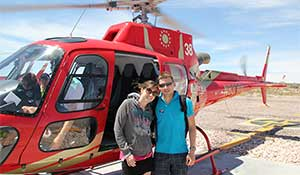Helicopter before takeoff to the Grand Canyon.