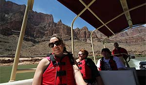 A boat trip on the Colorado River in the Grand Canyon.