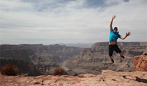 A happy jump in Grand Canyon