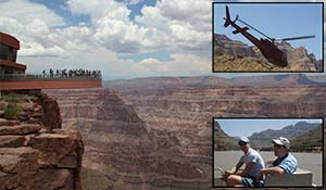 Grand Canyon Skywalk, heliopter tour and a boat ride
