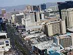 The Las Vegas Strip from a helicopter tour perspective.