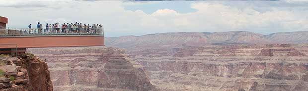 A view of the Grand Canyon Skywalk.