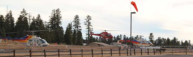 A helicopter tour is about to start in Tusayan.